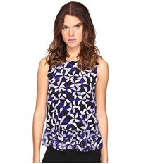 Kate Spade Spinner Double Layer Tank Top Nightlife Blue Women's Sleeveless
