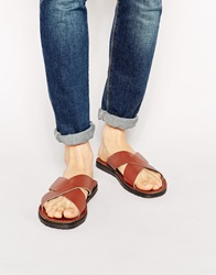 Dune Leather Sandals Brown