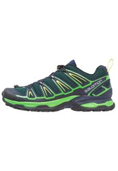 Salomon X Ultra 2 Walking Shoes Bistro Green Navy Blazer Sulphur Spring Dark Green