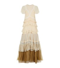 Chloe Tiered Ruffle Gown Female Neutral