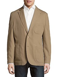 Kroon Solid Cotton Stretch Sportcoat Khaki