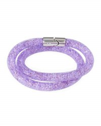 Swarovski Stardust Convertible Crystal Mesh Bracelet Choker Light Purple