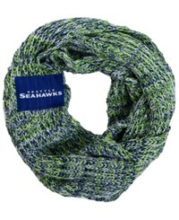Forever Collectibles Seattle Seahawks Peak Infinity Scarf Navy Green