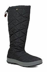 Bogs Snowday Tall Waterproof Quilted Snow Boot Black