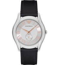 Emporio Armani Ar1984 Stainless Steel And Leather Watch