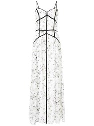 We Are Kindred Madison Caged Dress White