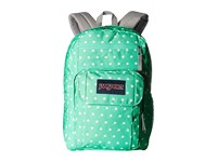 Jansport Digital Student Seafoam Green White Dots Backpack Bags