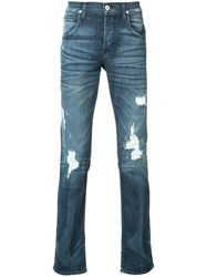 Hudson Ripped Slim Fit Jeans Blue