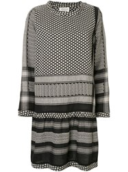 Cecilie Copenhagen Long Sleeve Patterned Dress Black