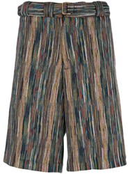 Missoni Striped Bermuda Shorts Black