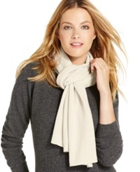Charter Club Jersey Knit Cashmere Muffler Only At Macy's Ivory
