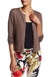 Tommy Bahama Malia Pointelle Knit Cardigan Brown