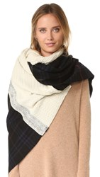 Standard Form Oversized Neo Plaid Scarf Black