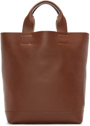 Marni Brown And Green Leather Tote