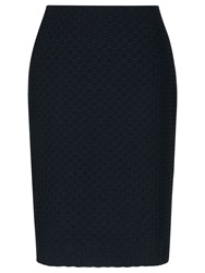 Precis Petite Basketweave Skirt Navy