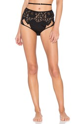 For Love And Lemons Ruby Lace Hi Waist Panty Black