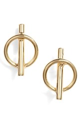 Argentovivo Argento Vivo Pierced Circle Stud Earrings Gold