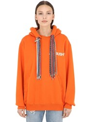 Ambush Oversized Multi Drawstring Sweatshirt Orange
