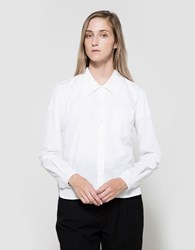 Margaret Howell Low Collar Shirt In White