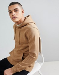 Pull And Bear Pullandbear Hoodie In Tan
