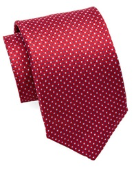 Burma Bibas Silk Micro Square Tie Red
