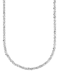 Macy's 14K White Gold Perfectina Chain Necklace