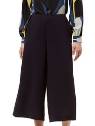 Jaeger Crepe Lip Detail Trousers Midnight