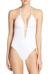 Milly Women's Acapulco One Piece Swimsuit White