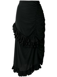 Marni Ruffled Gathered Skirt Black