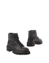 High Ankle Boots Dark Brown