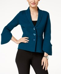 Alfani Bell Sleeve Cardigan Created For Macy's Alf Ocean Teal