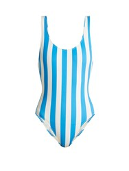 Solid And Striped The Anne Marie Stripe Print Swimsuit Blue Stripe