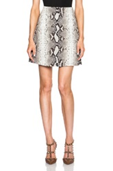 Carven Python Print Mini Skirt In Animal Print Gray