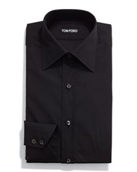Tom Ford Classic Solid Dress Shirt Black