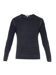 John Varvatos Crew Neck Silk And Cashmere Blend Sweater