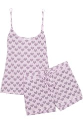 Equipment Layla Printed Washed Silk Pajama Set Baby Pink