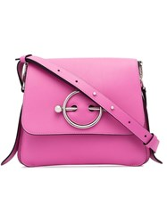 J.W.Anderson Jw Anderson Disc Pink Leather Cross Body Bag Pink And Purple