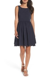 Eliza J Women's Fit And Flare Dress Navy