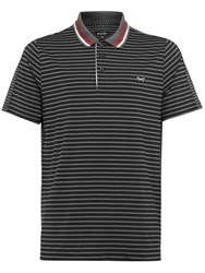 Wolsey Men's Stripe Split Polo Grey