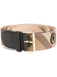 Burberry Classic Check Belt Brown