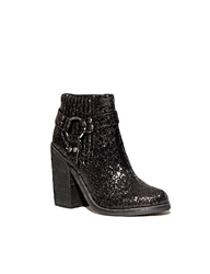 Pixie Market Glitter Harness Boot