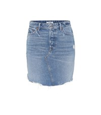 Grlfrnd Rhoda High Rise Denim Miniskirt Blue