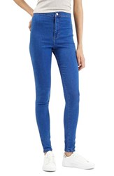 Women's Topshop Moto 'Joni' High Rise Skinny Jeans Bright Blue