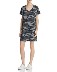 Current Elliott Slouchy Scoop Neck Camo Dress Oxford