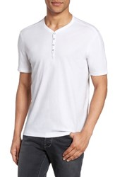 John Varvatos Men's Star Usa Snap Short Sleeve Henley Salt
