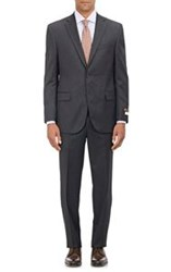 Barneys New York Super 120'S Napoli Ct Two Button Suit Black Size 36 R