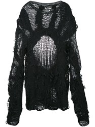 Ann Demeulemeester Multi Yarn Knit Jumper Black