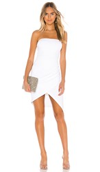 Susana Monaco Strapless Side Pleat Dress In White. Sugar