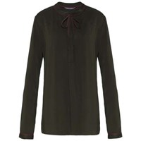 Tommy Hilfiger Ricci Bow Tie Blouse Green