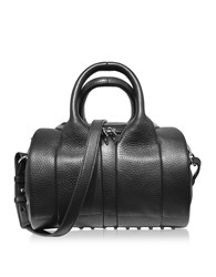 Alexander Wang Handbags Rockie Black Pebbled Leather Satchel Bag